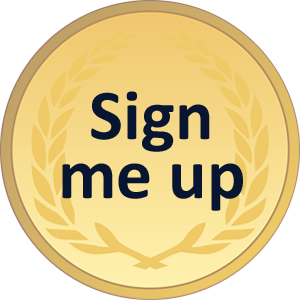 Gold sign up button